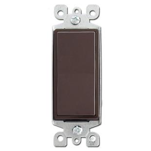 Brown 15 Amp Decora Rocker Switch