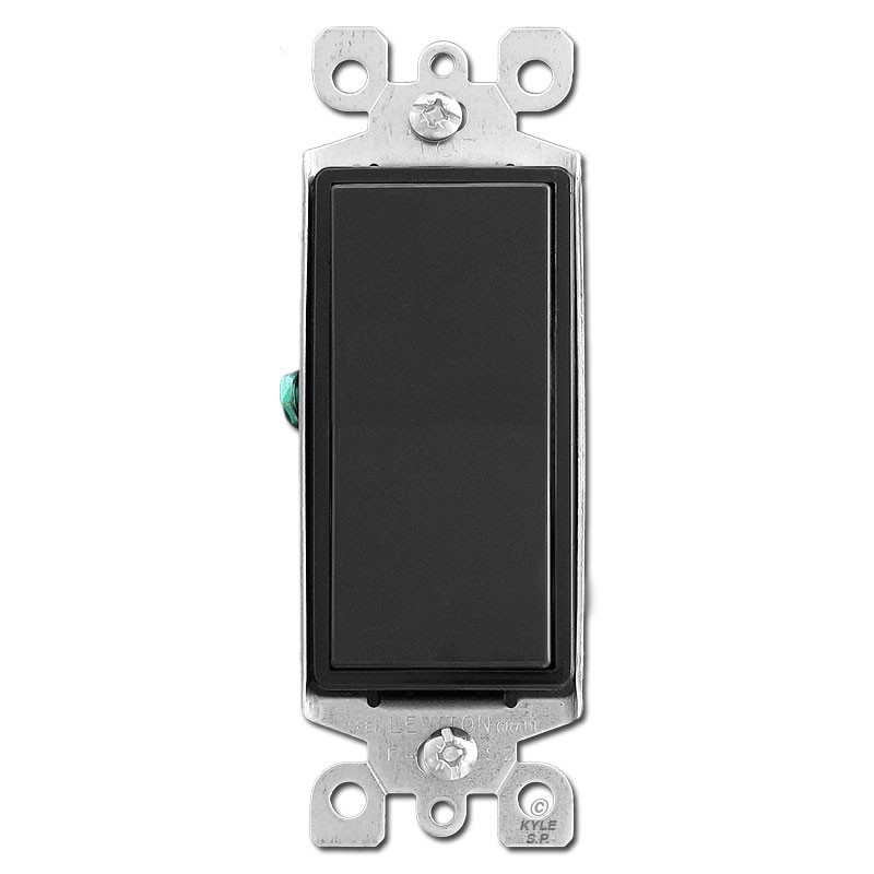 Black decora light switch 15a kyle switch plates for Decora light switches