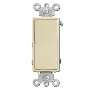 Ivory 15 Amp Decora Light Switches