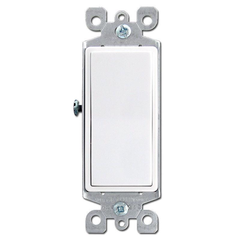 White 3 Way Illuminated Decora Rocker Switch Leviton 5613