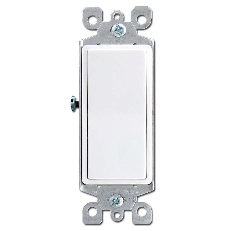 White 3 Way Illuminated Decora Rocker Switch Leviton 5613