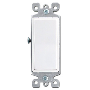 White Leviton 3 Way Illuminated Decora Rocker Switch