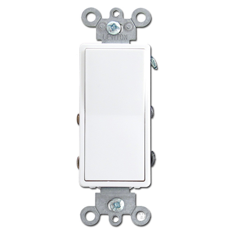White 4 Way Illuminated Decora Rocker Switches Leviton 5614 - 4 Way Rocker Light Switch