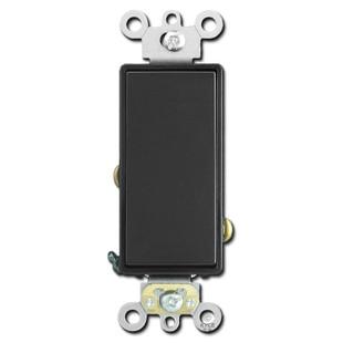 Black Leviton 20 Amp Spec Grade Decora Rocker Light Switch
