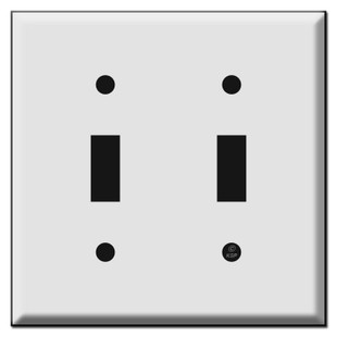 2 Toggle Switch Plate Cover