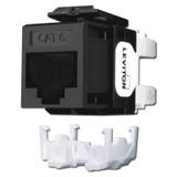 Black Cat 6+ Ethernet Jack for Leviton QuickPort Frame