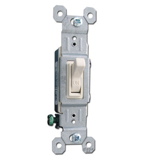 Light Almond 15 Amp Toggle Switches