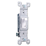 White 15A Toggle Switch