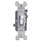 White Illuminated 15A Toggle Switch