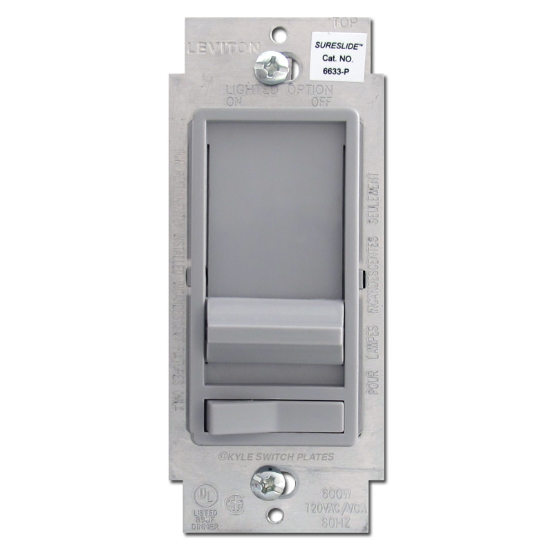 Gray Slide Dimmer With On Off Lever