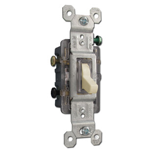 ivory 3 way illuminated toggle switch 15a kyle switch plates. Black Bedroom Furniture Sets. Home Design Ideas