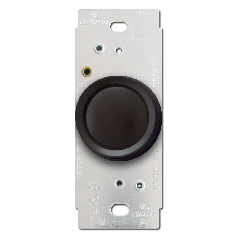 leviton brown rotary dimmer switch kyle switch plates. Black Bedroom Furniture Sets. Home Design Ideas