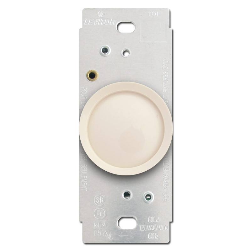 light almond leviton rotary dimmer switches