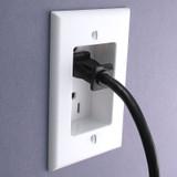 White Recessed 15A Duplex Outlet - Leviton