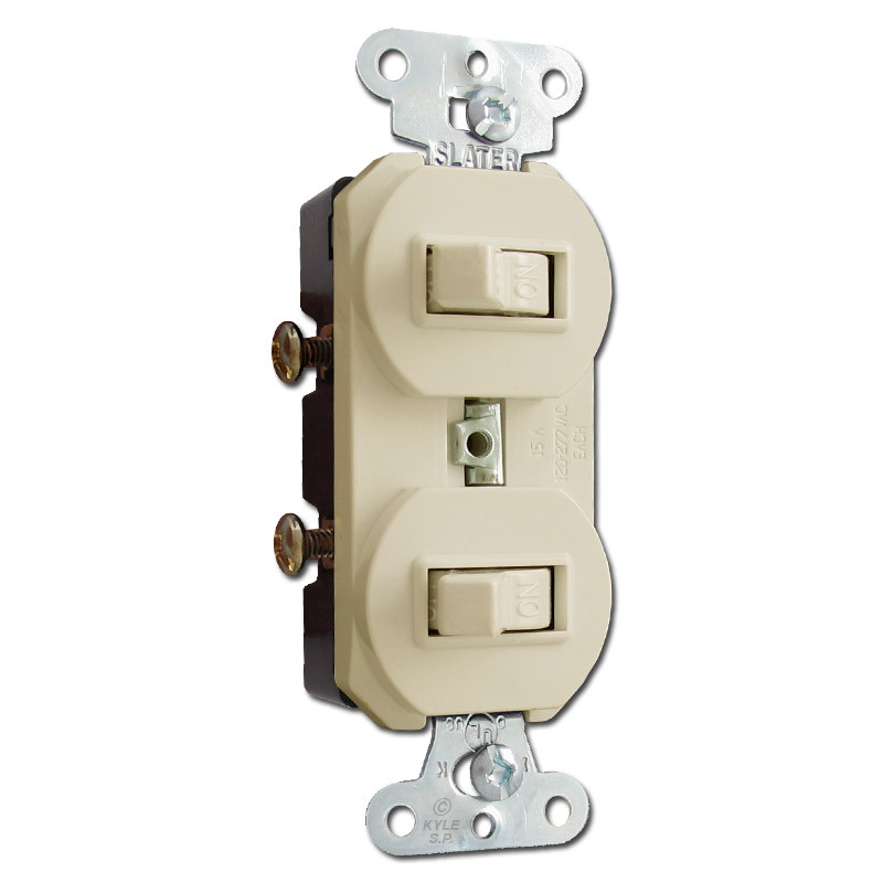 Ivory Horizontal Double Toggle Duplex Switches Manual Guide
