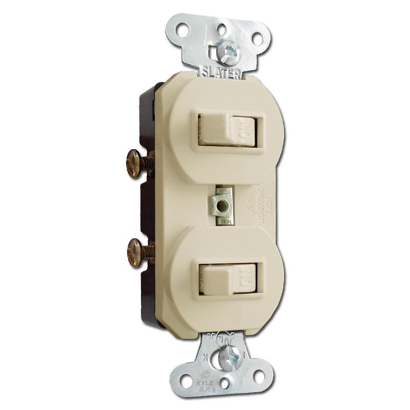 double single pole switch wiring ivory horizontal    double    toggle duplex switches  ivory horizontal    double    toggle duplex switches