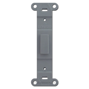 Gray Toggle to Blank Switch Plate Insert Fillers