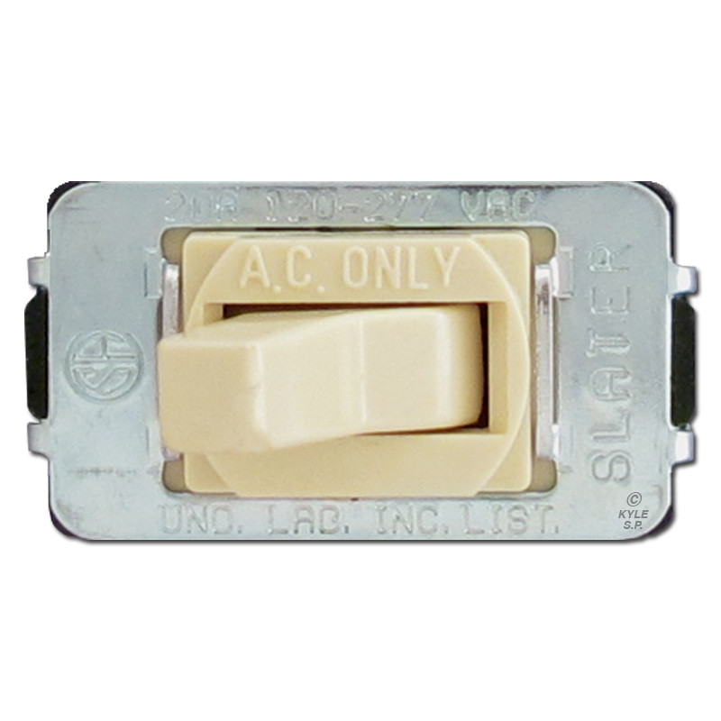 Ivory 20A Despard Toggle Light Switches   Kyle Switch Plates