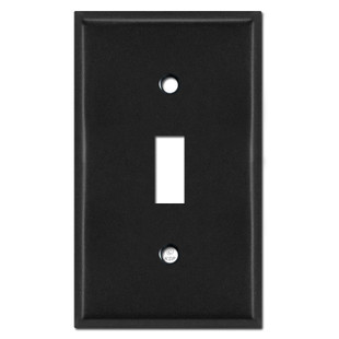 1 Toggle Wall Cover Plates - Black