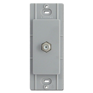 Gray Coax Cable Jack for Decorator Switch Plates