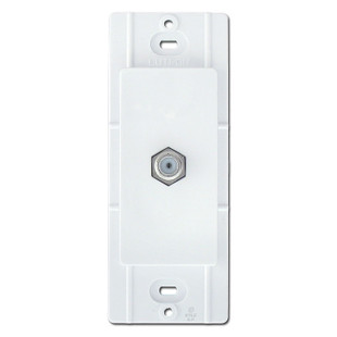 White Coaxial Cable Jacks for Decorator Wall Plates