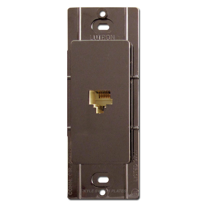 sc 1 st  Kyle Switch Plates & Brown Phone Jacks for Decorator Wall Switch Plates