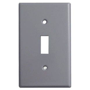 1 Toggle Switchplates - Gray