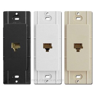 Lutron Phone Jack Inserts for Decora Rocker Switch Plates