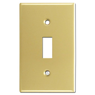 Single Toggle Faceplate - Polished Brass