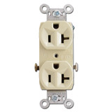 Ivory 20 Amp Duplex Outlet Receptacle