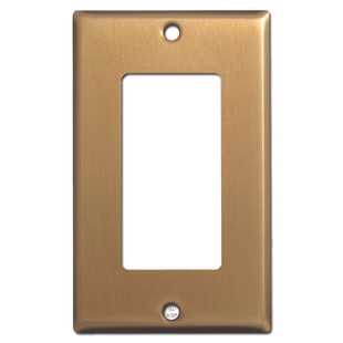 1 GFCI Rocker Wall Switch Plate - Satin Bronze