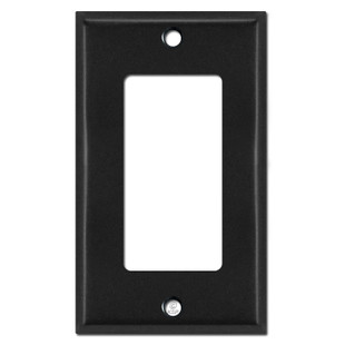 1 Decora Light Switch Plate Covers - Black