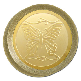 Gold Butterfly on Antique Brass Dimmer Knob
