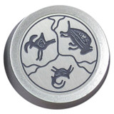 Silver Southwest Design on Silver Dimmer Knob