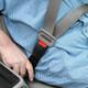 Seat belt extender in use