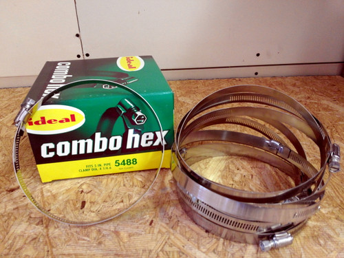 """5"""" HOSE CLAMPS IDEAL BRAND 76MM TO 127MM CLAMP PIPE"""