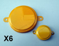 "2"" & 3/4"" Metal Capseal  Yellow Package of 6"
