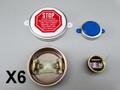 "Copy of 6 Lot 2"" & 3/4"" set TITE SEAL Drum CLOSURES Steel Bung Cap Plug W/ Stop sealcaps"