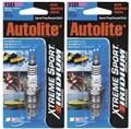 (2) Autolite Xtreme Sport Iridium XS65 Spark Plugs Rn12yc 8810 8812 Gr4