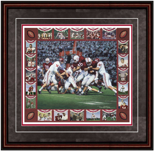 Shown in our Mahogany frame with Charcoal Suede/Crimson matting