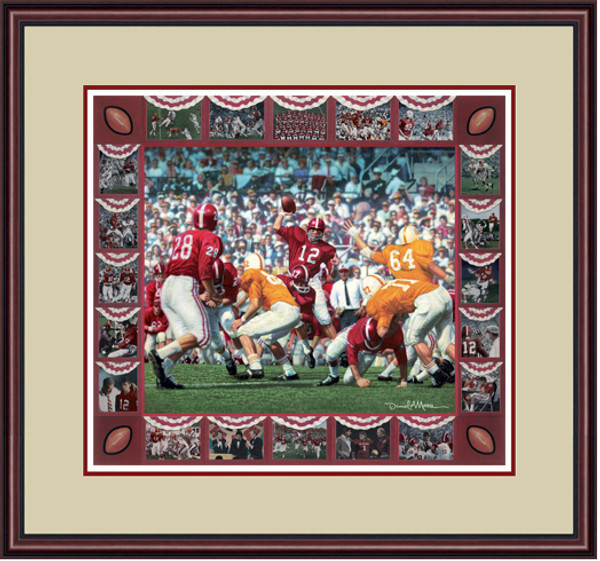 Shown in our Mahogany frame with Oyster/Crimson matting