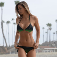 Ombre Triangle 2pc Set - Green PWC Jetski Ride & Race Swimwear
