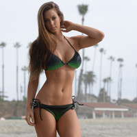 Ombre Bikini Tie Bottom  - Green (Medium Only - Clearance)