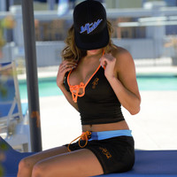 Mission Bay Tankini - Blue / Orange PWC Jetski Swimwear