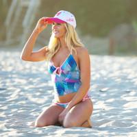 Casey Tankini - Blue/Green/Pink PWC Jetski Ride & Race Swimwear