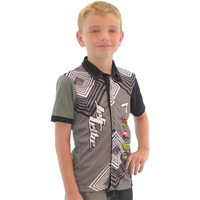 Kids Pit Shirt - Grey PWC Jetski Ride & Race  Apparel