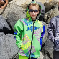Kids Tour Coat Young Heart- Green PWC Jetski Ride & Race