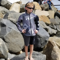 Kids (Big Kids) Tour Coat Young Heart - Grey PWC Jetski Ride & Race