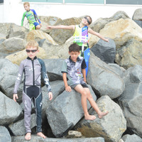 Kids (Big Kids) Wetsuit Young Heart - Grey PWC Jetski Ride & Race
