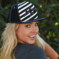 TNT Stripe Hat - Black PWC Jetski Ride & Race Accessories
